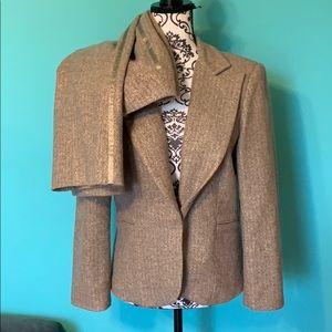 Laundry by Shelli Segal Shimmer Suit Blazer+Pants
